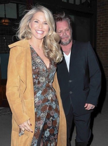 Christie Brinkley and John Mellencamp spend the night out in NYC.