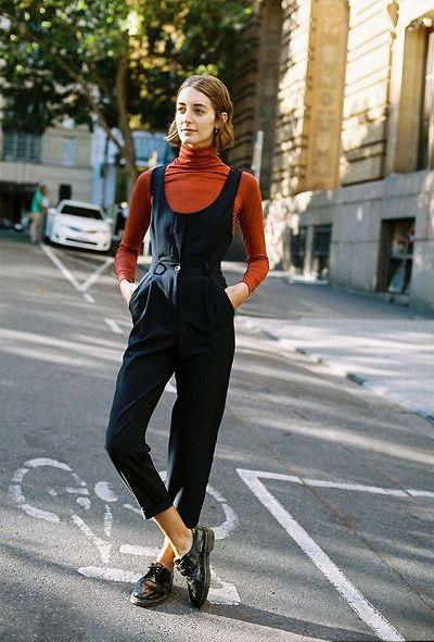 Turtlenecks Totally Work, Too - Easy Ways to Jazz Up Your Jumpsuits - Photos