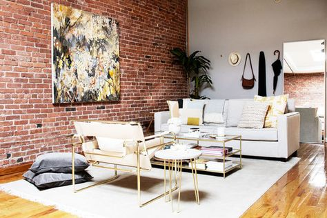 Living Well - A Gallerist's Industrial, Artful Brooklyn Home - Photos