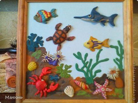 Поделки из пластилина на морскую тематику