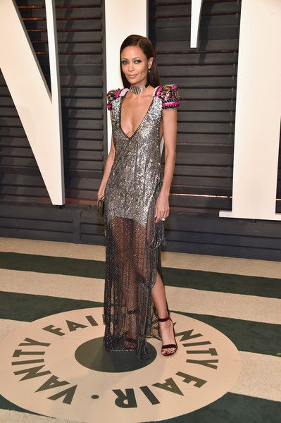 Actor Thandie Newton attends the 2017 Vanity Fair Oscar Party hosted by Graydon Carter at Wallis Annenberg Center for the Performing Arts on February 26, 2017 in Beverly Hills, California.