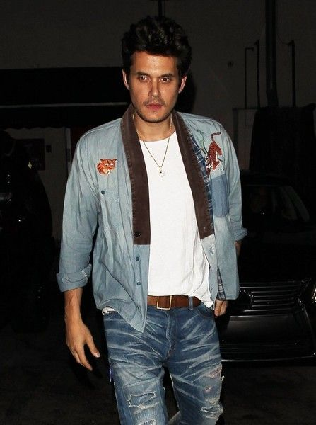 Singer John Mayer enjoys a night out at Craig's in West Hollywood.