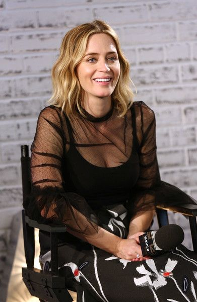 Actor Emily Blunt takes part in AOL's BUILD series at AOL London.