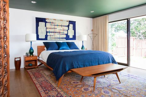 Blue Vibes - This Austin Home Is Mid-Century Magic - Photos