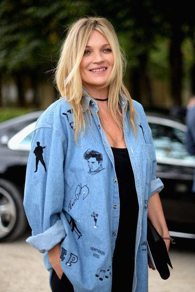 Kate Moss  attends the Christian Dior show as part of the Paris Fashion Week Womenswear  Spring/Summer 2017  on September 30, 2016 in Paris, France.