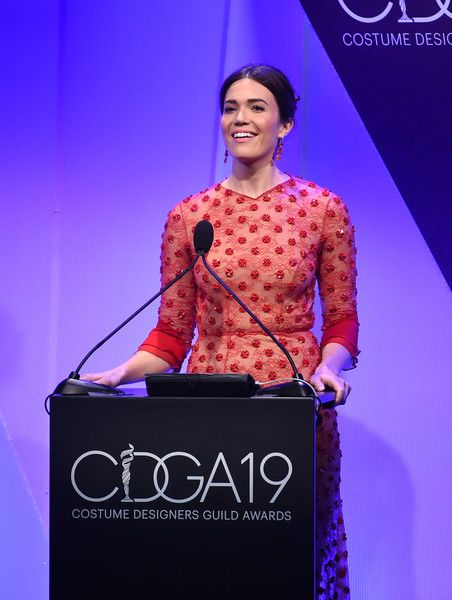Host Mandy Moore speaks onstage at The 19th CDGA (Costume Designers Guild Awards) with Presenting Sponsor LACOSTE at The Beverly Hilton Hotel on February 21, 2017 in Beverly Hills, California.