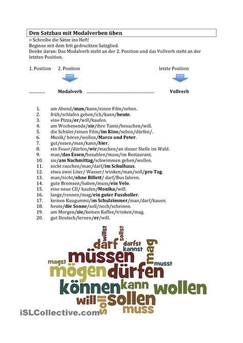 Satzbau im Deutschen  Learn languages with an online