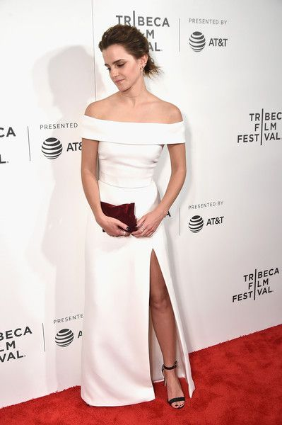 Emma Watson attends 'The Circle' Premiere at the BMCC Tribeca PAC in NYC.