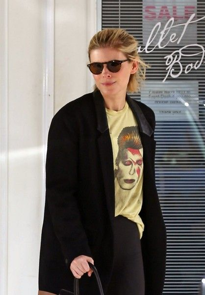 Newly engaged actress Kate Mara is spotted leaving a gym in Beverly Hills.