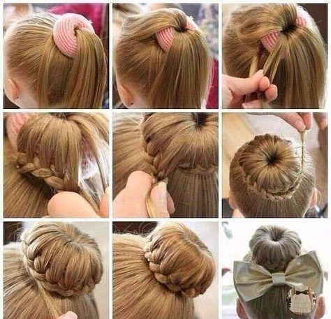 Простая и красивая прическа на длинных волосах для девочек