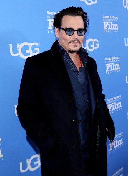 Johnny Depp attends the 31st Santa Barbara International Film Festival.