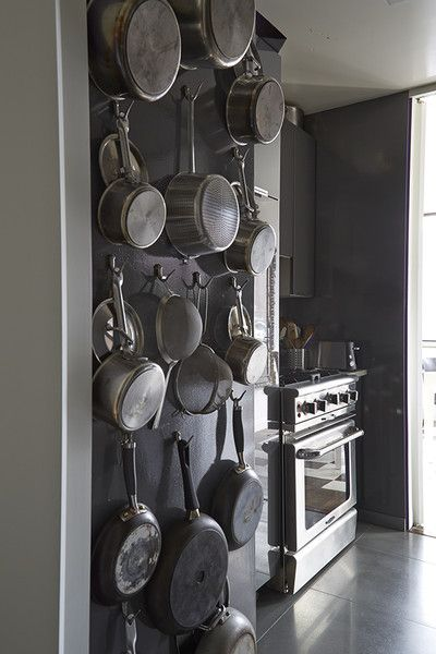 Kitchen Decorating Ideas - Hanging Pots