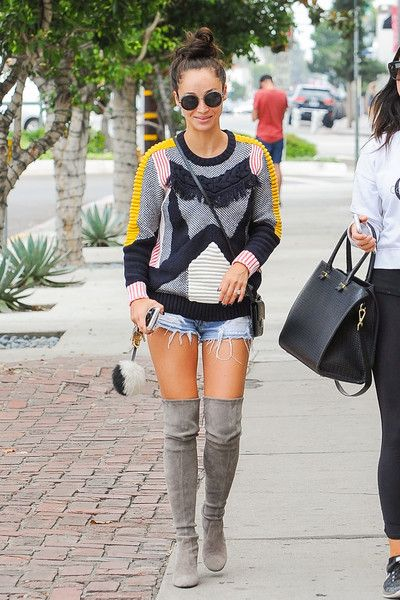 Cara Santana sports stylish thigh-highs while out and about in the Los Angeles area.