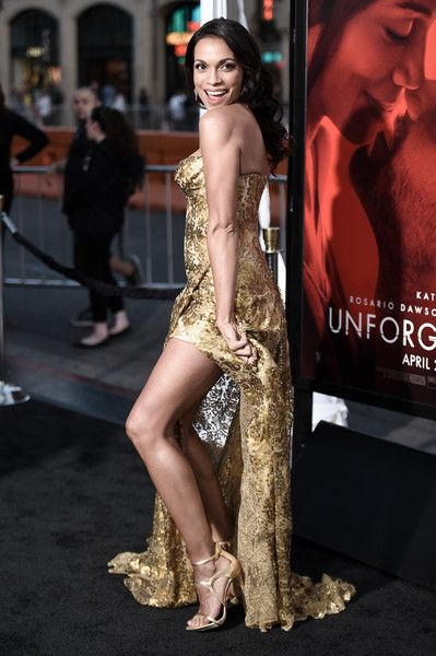 Rosario Dawson attends the premiere of the dramatic thriller 'Unforgettable' at the TCL Chinese Theater.