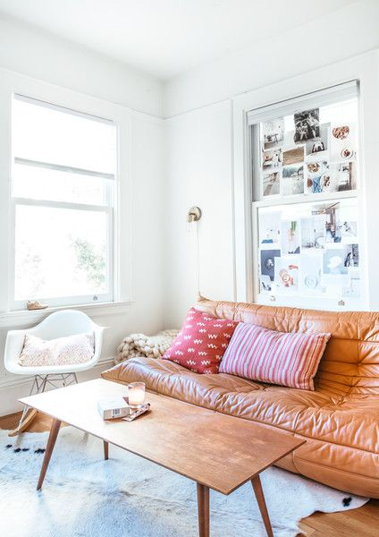 Statement Sofa - A French Blogger's Effortless and Eclectic Home - Photos