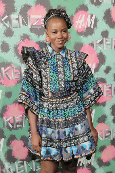 Lupita Nyong'o attends the KENZO x H&M Launch Event Directed by Jean-Paul Goude.
