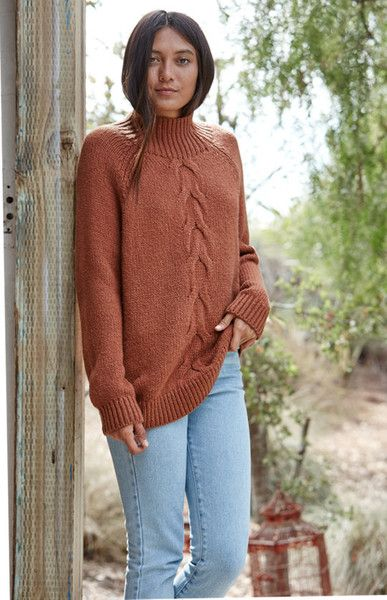 Warm Mocha Cable Knit - The Coziest Sweaters of the Season - Photos