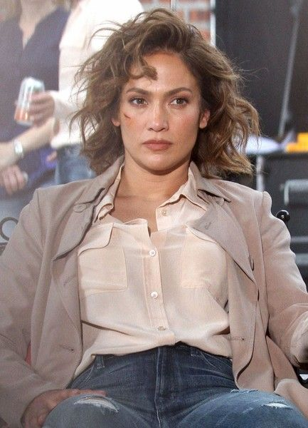 Jennifer Lopez is seen performing on the set of 'Shades of Blue' in New York City.
