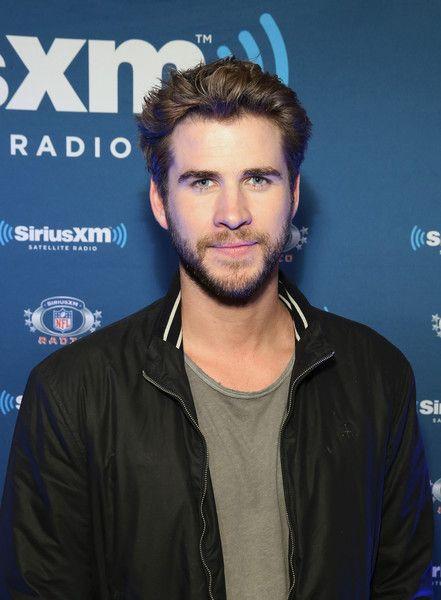 Liam Hemsworth visits SiriusXM at Super Bowl 50 Radio Row.
