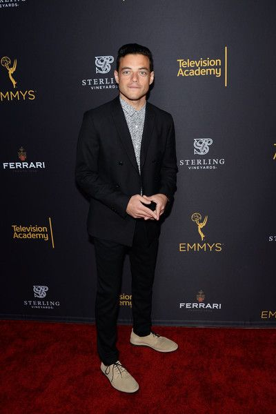 Actor Rami Malek arrives at the Television Academy's Performers Peer Group Celebration at Montage Beverly Hills.