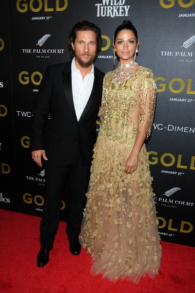 Actors Matthew McConaughey and Camilla Alves attend the World Premiere of 'Gold.'