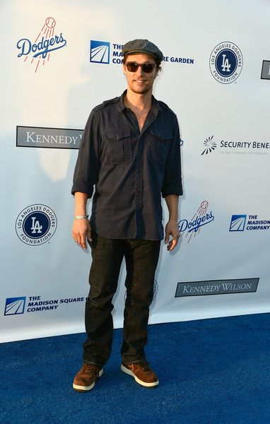 Matthew McConaughey attends the Los Angeles Dodgers Foundation Blue Diamond Gala at Dodger Stadium.