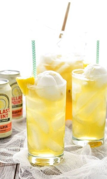 Tropical Pineapple Beer Party Punch - Low-Key Backyard Party Ideas  - Photos