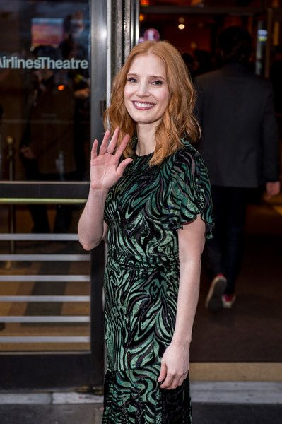 Jessica Chastain attends the 'Long Day's Journey into Night' Broadway opening night.