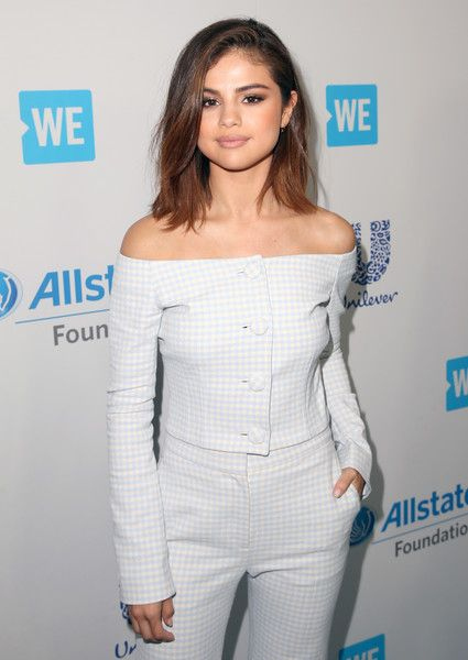 Host of WE Day California, actress/singer and UNICEF Goodwill Ambassador Selena Gomez, attends WE Day California to celebrate young people changing the world at The Forum.