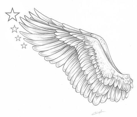 Eagle wing arm tattoo