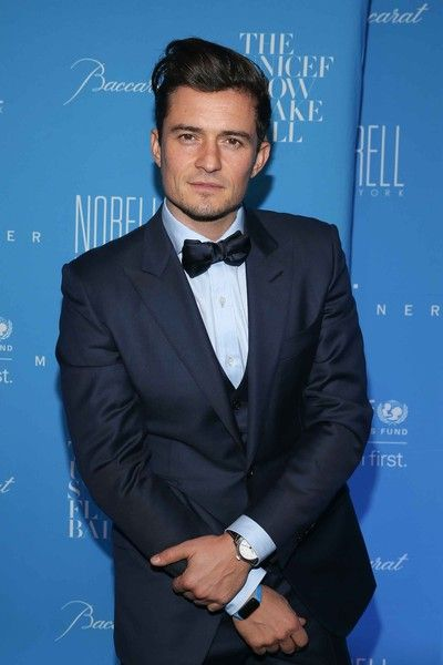 Orlando Bloom attends the 2015 UNICEF Snowflake Ball.