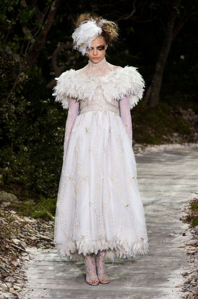 Chanel Couture, Spring 2013 - Cara Delevingne on the Catwalk - Photos