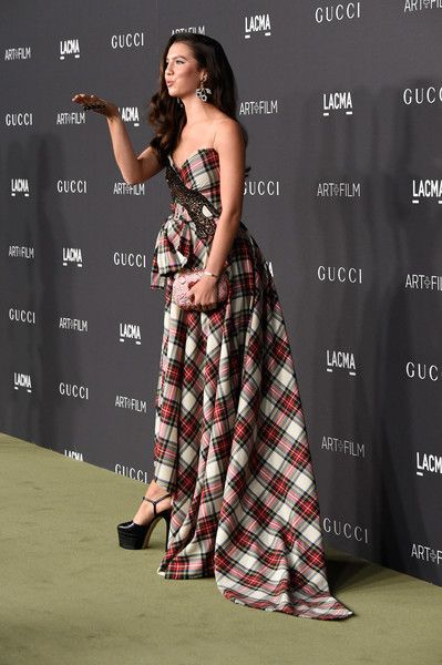 Maya Henry in a Plaid Gown - Best Dressed at the LACMA Art + Film Gala 2016 - Photos