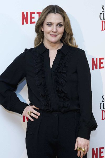 Actress Drew Barrymore attends the 'Santa Clarita Diet' photocall at the Netflix office.