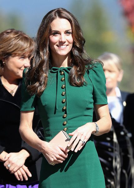 Catherine, Duchess of Cambridge visits Kelowna University during the Royal Tour of Canada on September 27, 2016 in Kelowna, Canada. Prince William, Duke of Cambridge, Catherine, Duchess of Cambridge, Prince George and Princess Charlotte are visiting Canada as part of an eight day visit to the country taking in areas such as Bella Bella, Whitehorse and Kelowna