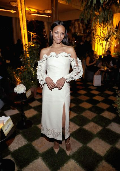 Actor Zoe Saldana attends the Cadillac Oscar Week Celebration at Chateau Marmont on February 23, 2017 in Los Angeles, California.
