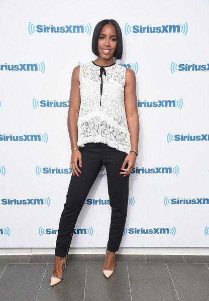 Singer Kelly Rowland visits SiriusXM Studios in NYC.