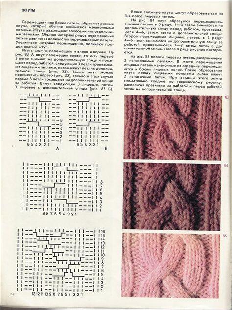 Вязание объемный узор из кос на 766