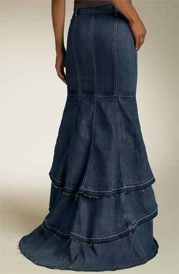Как сшить верх юбки из джинс
