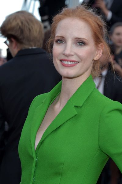 Jessica Chastain attends 'The Meyerowitz Stories' premiere during the 70th annual Cannes Film Festival.