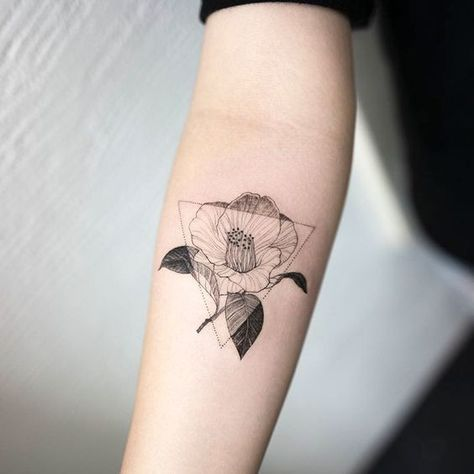 Geometric Florals - Delicate Minimalist Tattoos That Exude Understated Elegance - Photos