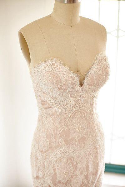 Eyelash Lace Corset - Beautiful Blush Wedding Dresses - Photos