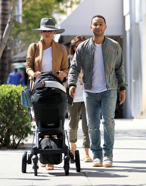 John Legend and Chrissy Teigen take their daughter Luna shopping in Beverly Hills.