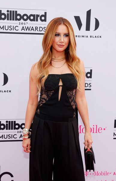 Ashley Tisdale arrives at the 2017 Billboard Music Awards.