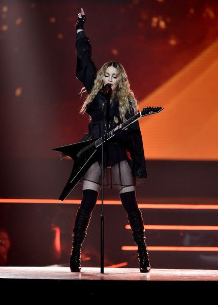 Madonna performs at the O2 as part of her 'Rebel Heart' world tour at The O2 Arena on December 1, 2015 in London, England.