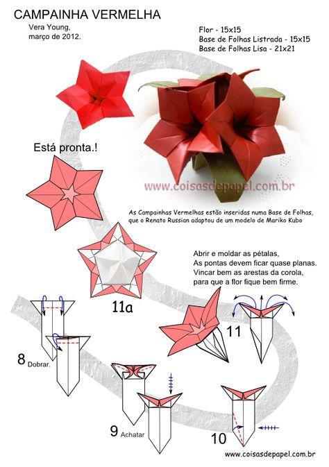 Оригами с инструкцией цветы из бумаги своими руками