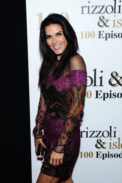 Angie Harmon attends the 100th episode celebration of TNT's 'Rizzoli and Isles.'