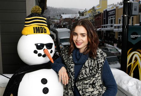 Actress Lily Collins of 'To the Bone' attends The IMDb Studio featuring the Filmmaker Discovery Lounge.