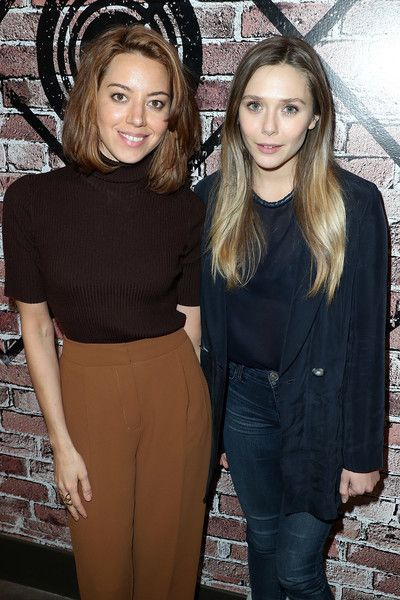Aubrey Plaza and Elizabeth Olsen attend the Creators League Studio at the 2017 Sundance Film Festival.