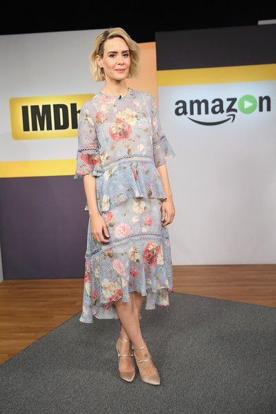 Sarah Paulson appears on 'IMDb Asks.'